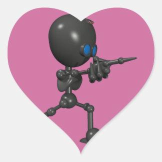 Bionic Boy 3D Robot - Finger Guns - Original Sticker