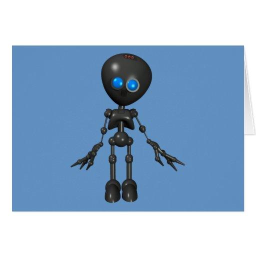Bionic Boy 3D Robot - Looking Forward Card