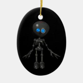 Bionic Boy 3D Robot - Looking Forward Ceramic Ornament