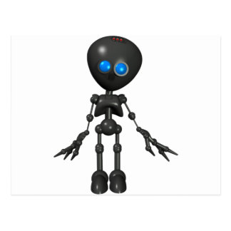 Bionic Boy 3D Robot - Looking Forward Postcard