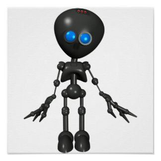 Bionic Boy 3D Robot - Looking Forward Posters