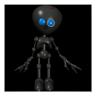 Bionic Boy 3D Robot - Looking Forward Poster