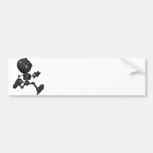 Bionic Boy 3D Robot - Running - Original Bumper Sticker