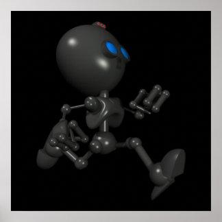 Bionic Boy 3D Robot - Running - Original Posters