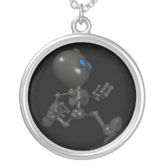 Bionic Boy 3D Robot - Running - Original Round Pendant Necklace