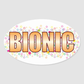 Bionic Bubble Tag Oval Sticker