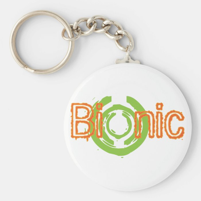 Bionic Edgy Logo Tees and Gifts Keychain