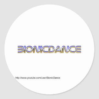 BionicDance Round Stickers
