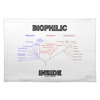 Biophilic Inside Phylogenetic Tree Of Life Cloth Placemat