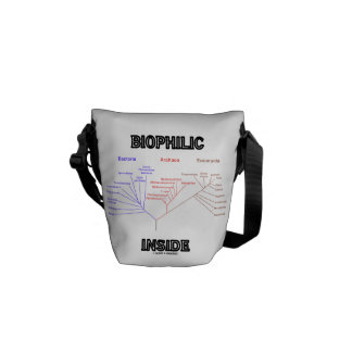 Biophilic Inside (Phylogenetic Tree Of Life) Messenger Bags