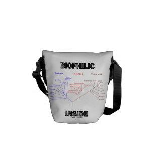Biophilic Inside (Phylogenetic Tree Of Life) Messenger Bags