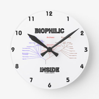 Biophilic Inside Phylogenetic Tree Of Life Round Clock
