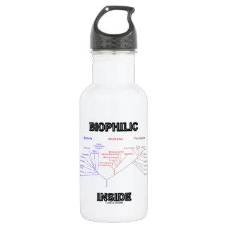 Biophilic Inside Phylogenetic Tree Of Life Stainless Steel Water Bottle