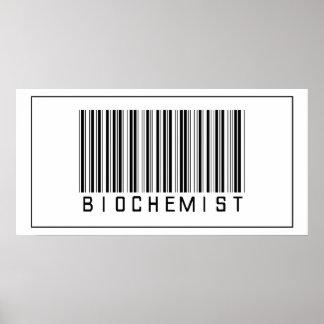 Bioquímico del código de barras póster
