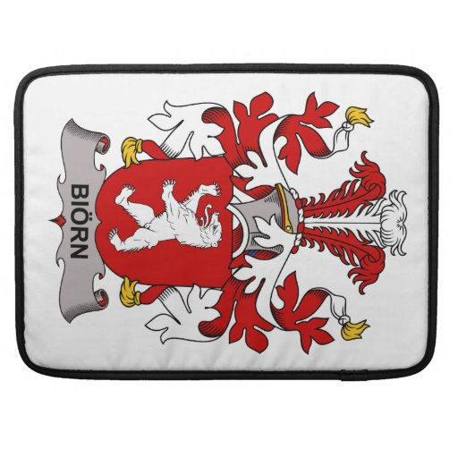 Biorn Family Crest MacBook Pro Sleeves