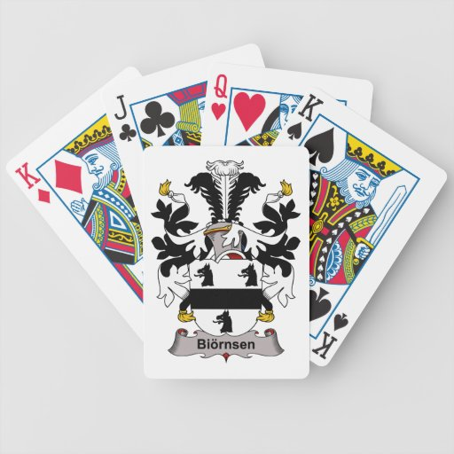 Biornsen Family Crest Bicycle Poker Cards