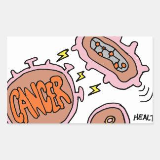 Biotech genomic cancer cure rectangular sticker