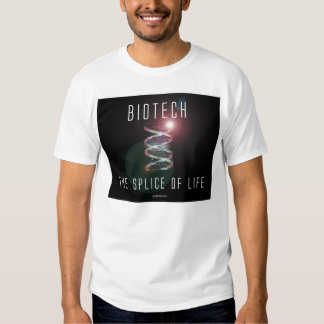 Biotech. The Splice of Life. (black square) T-shirt