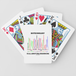 Biotechnology Is All About DNA Sequencing Bicycle Playing Cards
