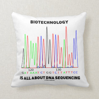 Biotechnology Is All About DNA Sequencing Throw Pillows