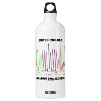 Biotechnology Is All About DNA Sequencing Water Bottle