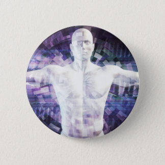 Biotechnology of the Future Abstract as Art Button
