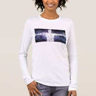 Biotechnology of the Future Abstract as Art Long Sleeve T-Shirt