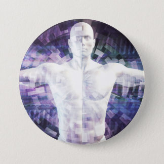 Biotechnology of the Future Abstract as Art Pinback Button