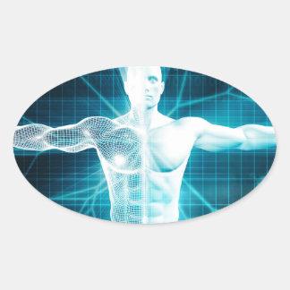 Biotechnology or Biology Technology Biotech Oval Sticker
