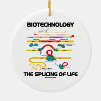 Biotechnology The Splicing Of Life (Mature RNA) Double-Sided Ceramic Round Christmas Ornament