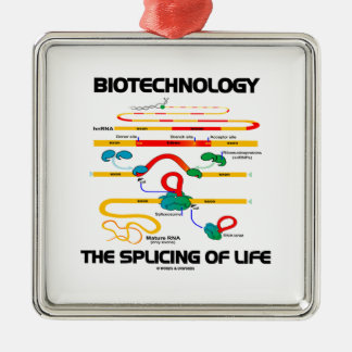 Biotechnology The Splicing Of Life (Mature RNA) Square Metal Christmas Ornament