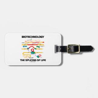 Biotecnología el empalmar de la vida ARN maduro Etiqueta Para Maleta