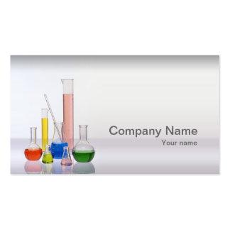 Biotecnología y tarjeta de visita de los productos