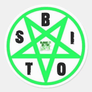 BIOTS Green Pentagram Sticker Set