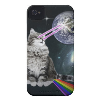 Bioworld Laser Eyes Space Cat iPhone 4 Cover