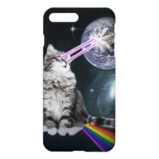 Bioworld Laser Eyes Space Cat iPhone 8 Plus/7 Plus Case