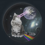 "Bioworld Laser Eyes Space Cat Paper Plate<br><div class=""desc"">pussy , cat , rainbow , funny , space , cute , grey , &quot;cat rainbow&quot; , ray , pet , puppy , kitty , gray , kitten , meow , cute cat , &quot;funny cat&quot; , feline , &quot;cat meme&quot; , &quot;space cat &quot;, &quot;cat funny&quot; , &quot;cat sitting&quot; ,...</div>"