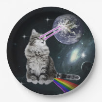 Bioworld Laser Eyes Space Cat Paper Plate
