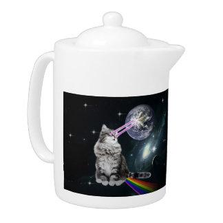 Bioworld Laser Eyes Space Cat Teapot
