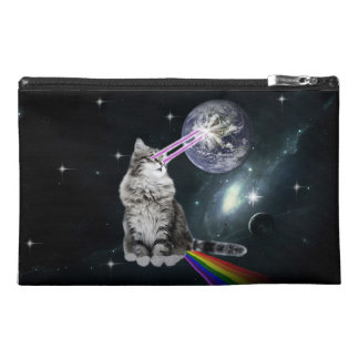 Bioworld Laser Eyes Space Cat Travel Accessory Bag