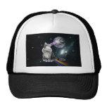 Bioworld Laser Eyes Space Cat Trucker Hat