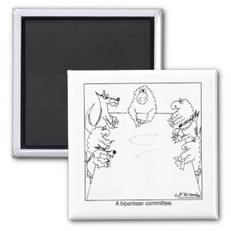 Bipartisan Committee 2 Inch Square Magnet