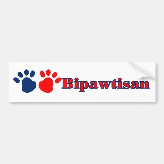 Bipawtisan Politics Bumper Sticker