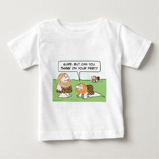 biped caveman think on feet t-shirt