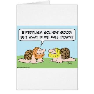 bipedalism caveman fall down card