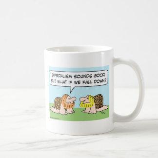 bipedalism caveman fall down coffee mug
