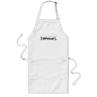 Bipetual funny for dog and cat owners long apron