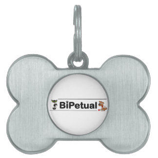 Bipetual funny for dog and cat owners pet name tag