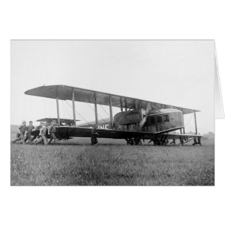 Biplane Airliner, 1919 Card
