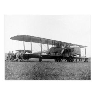 Biplane Airliner, 1919 Postcard